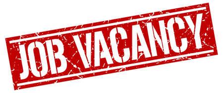vacancy: job vacancy square grunge stamp Illustration