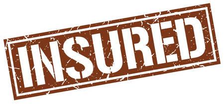 insured: insured square grunge stamp