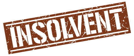 insolvent: insolvent square grunge stamp
