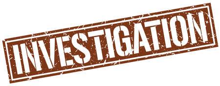 investigating: investigation square grunge stamp