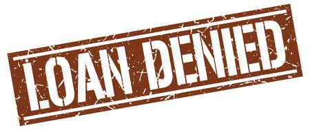 denied: loan denied square grunge stamp