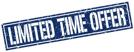 limited time: limited time offer square grunge stamp Illustration