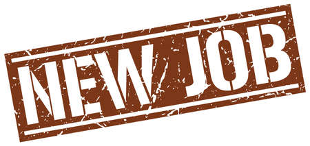 new job: new job square grunge stamp Illustration