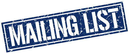 mailing: mailing list square grunge stamp