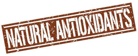 antioxidants: natural antioxidants square grunge stamp