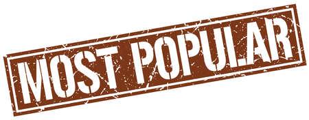 most popular: most popular square grunge stamp