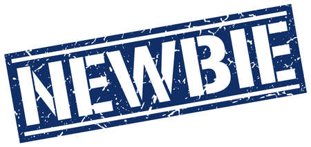 newbie: newbie square grunge stamp