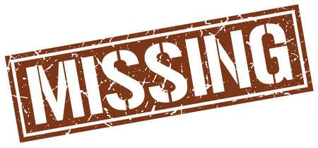 missing: missing square grunge stamp