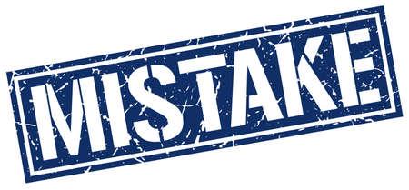 mistake: mistake square grunge stamp Illustration