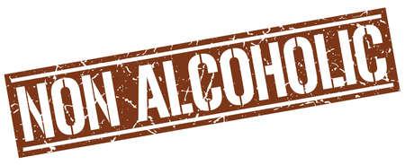 non: non alcoholic square grunge stamp Illustration