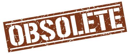 obsolete: obsolete square grunge stamp Illustration
