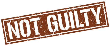 guilt: not guilty square grunge stamp