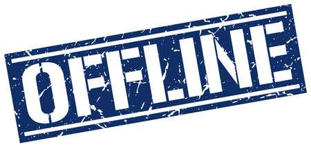 offline: offline square grunge stamp
