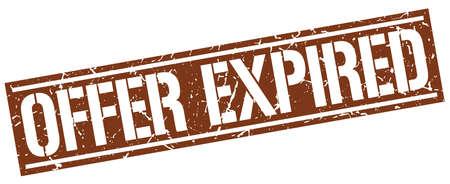 expired: offer expired square grunge stamp