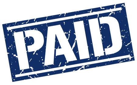paid stamp: paid square grunge stamp Illustration