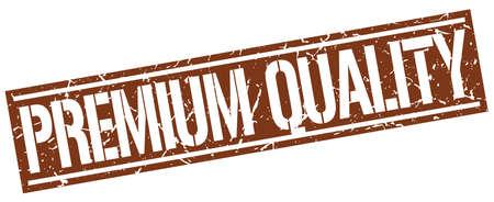 premium quality: premium quality square grunge stamp