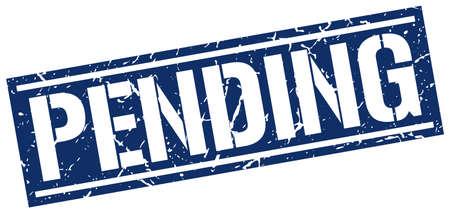 pending: pending square grunge stamp