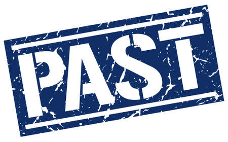 the past: past square grunge stamp