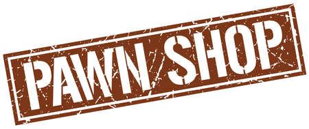 pawn: pawn shop square grunge stamp Illustration