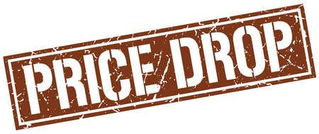 price drop: price drop square grunge stamp Illustration
