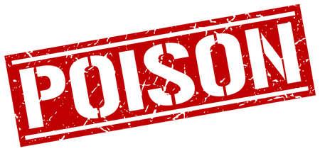 poison: poison square grunge stamp
