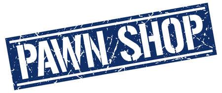pawn shop: pawn shop square grunge stamp Illustration