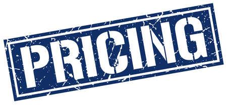 pricing: pricing square grunge stamp Illustration