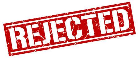 rejected: rejected square grunge stamp Illustration