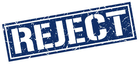 reject: reject square grunge stamp