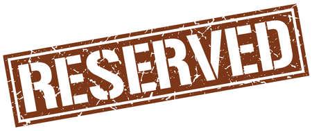 reserved: reserved square grunge stamp