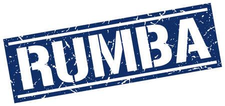 rumba: rumba square grunge stamp