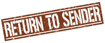 sender: return to sender square grunge stamp