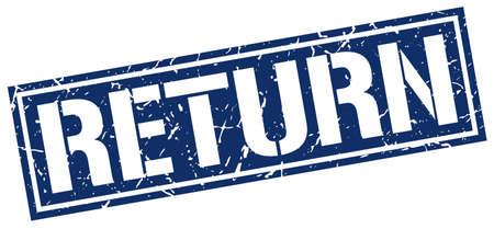 Rückkehr Quadrat Grunge-Stempel