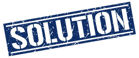 solution: solution square grunge stamp
