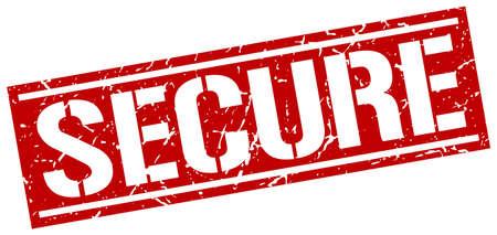 secure: secure square grunge stamp Illustration