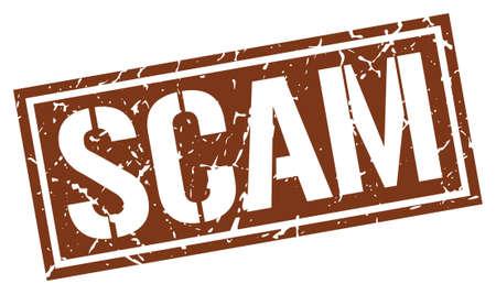 scam: scam square grunge stamp