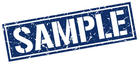 sample: sample square grunge stamp