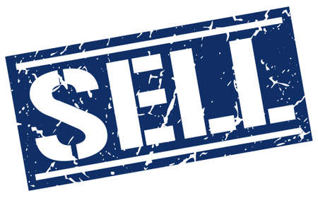 sell: sell square grunge stamp Illustration