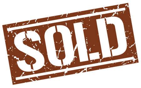 sold: sold square grunge stamp Illustration