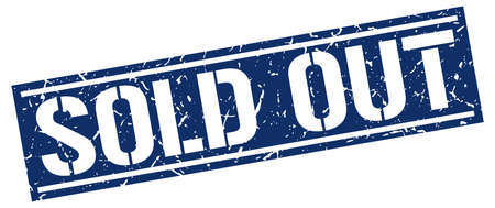 sold out square grunge stamp