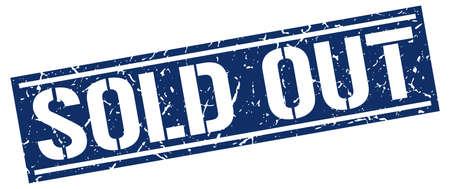 sold: sold out square grunge stamp Illustration