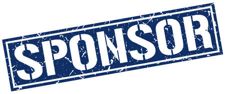 sponsor: sponsor square grunge stamp
