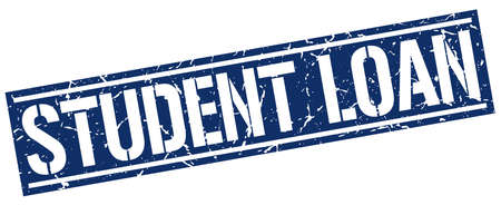 student loan: student loan square grunge stamp