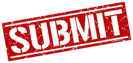 submit: submit square grunge stamp Illustration