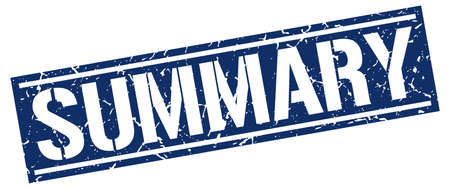 summary: summary square grunge stamp Illustration