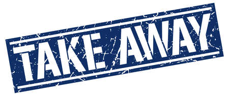 take away: take away square grunge stamp