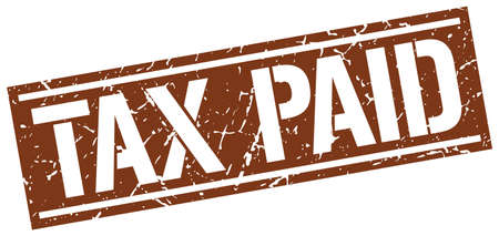 paid stamp: tax paid square grunge stamp Illustration
