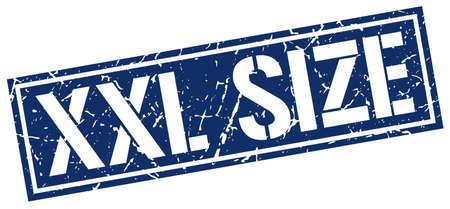 size: xxl size square grunge stamp