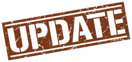 update: update square grunge stamp