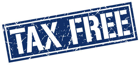 tax free square grunge stamp